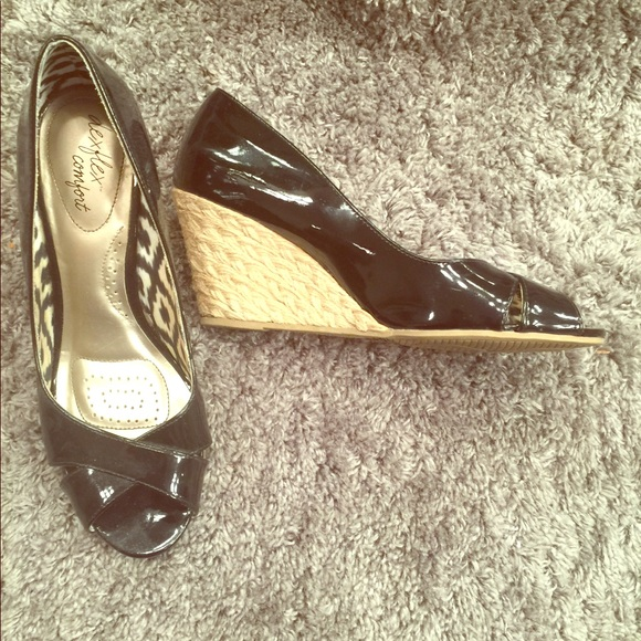 2e4f889e4c0 dexflex comfort Shoes - Peep toe Dex Flex Comfort Wedges black